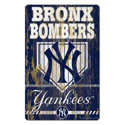 New York Yankees Sign 11x17 Wood Slogan Design
