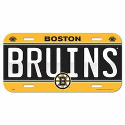Boston Bruins License Plate Plastic Special Order