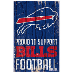 Buffalo Bills Sign 11x17 Wood Proud to Support Design