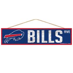 Buffalo Bills Sign 4x17 Wood Avenue Design