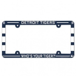 Detroit Tigers License Plate Frame Plastic Full Color Style