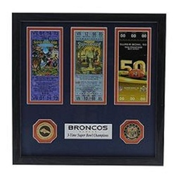 Category: Dropship Temporary Category, SKU #3320482788, Title: Denver Broncos 3-Time Super Bowl Champions Ticket Collection