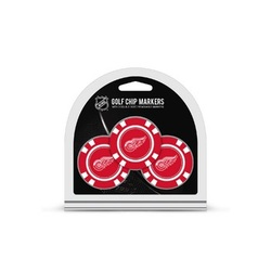 Detroit Red Wings Golf Chip with Marker 3 Pack - Special Order