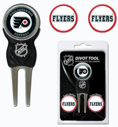 Philadelphia Flyers Golf Divot Tool with 3 Markers Special Order