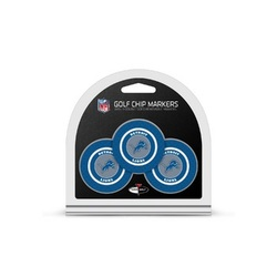 Detroit Lions Golf Chip with Marker 3 Pack