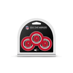 Tampa Bay Buccaneers Golf Chip with Marker 3 Pack