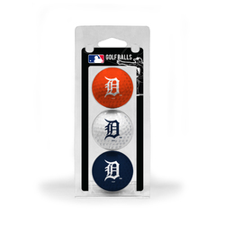 Detroit Tigers 3 Pack of Golf Balls