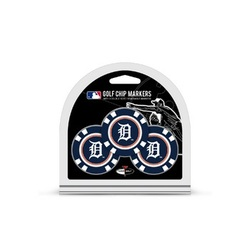 Detroit Tigers Golf Chip with Marker 3 Pack - Special Order
