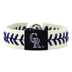 Colorado Rockies Bracelet Lavender Genuine Baseball