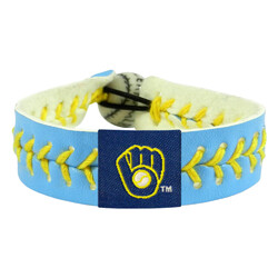 Milwaukee Brewers Bracelet Team Color Baseball Columbia Blue