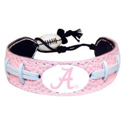 Alabama Crimson Tide Bracelet Pink Football A Logo