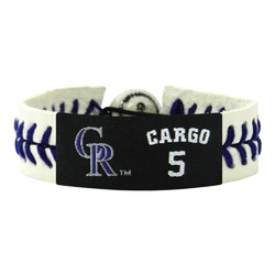 Colorado Rockies Bracelet Genuine Jersey Carlos Gonzalez Design