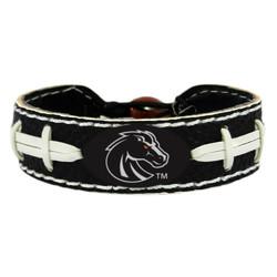 Boise State Broncos Bracelet Team Color Football Black Leather