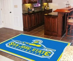 Category: Dropship Sports Fan Gifts, SKU #4610406804, Title: San Jose State Spartans Area Rug - 5'x8' - Special Order