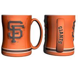 San Francisco Giants Coffee Mug - 14oz Sculpted Relief - Orange