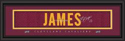"Cleveland Cavaliers LaBron James Print - Signature 8""x24"""