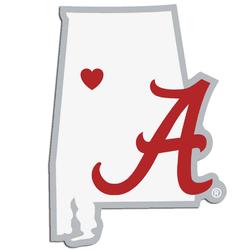 Alabama Crimson Tide Decal Home State Pride Style