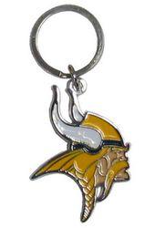 Minnesota Vikings Chrome Logo Cut Keychain