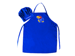 Kansas Jayhawks Apron and Chef Hat Set - Special Order