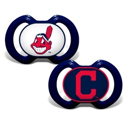 Cleveland Indians Pacifier 2 Pack Alternate