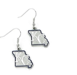 Kansas City Royals Earrings State Design