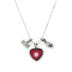 Alabama Crimson Tide Necklace Charmed Sport Love Football