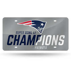 Category: Dropship Temporary Category, SKU #6734531585, Title: New England Patriots License Plate Laser Cut Silver Super Bowl 51 Champ