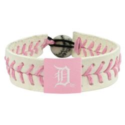 Detroit Tigers Bracelet Baseball Pink