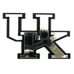 Kentucky Wildcats Auto Emblem - Silver