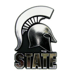Michigan State Spartans Auto Emblem - Silver