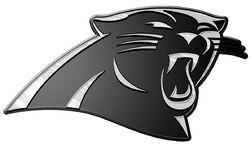 Carolina Panthers Auto Emblem - Silver