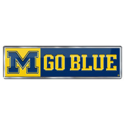 Michigan Wolverines Auto Emblem Color Alternate Logo