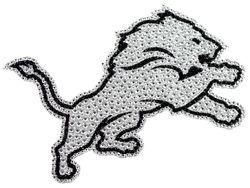 Detroit Lions Auto Emblem - Rhinestone Bling
