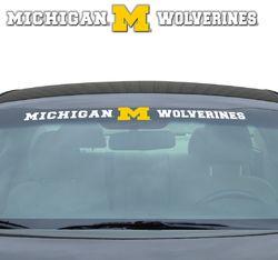 Michigan Wolverines Decal 35x4 Windshield
