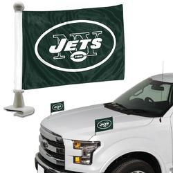 New York Jets Flag Set 2 Piece Ambassador Style