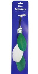 Michigan State Spartans Team Color Feather Hair Clip