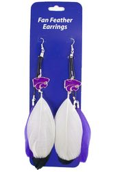 Kansas State Wildcats Team Color Feather Earrings
