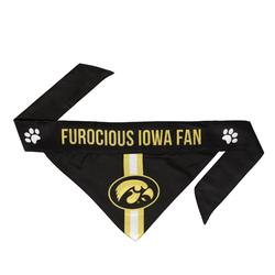 Iowa Hawkeyes Pet Bandanna Size S