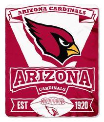 Arizona Cardinals Blanket 50x60 Fleece Marque Design