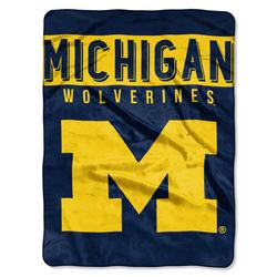 Michigan Wolverines Blanket 60x80 Raschel Basic Design