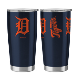 Detroit Tigers Travel Tumbler 20oz Ultra Silver
