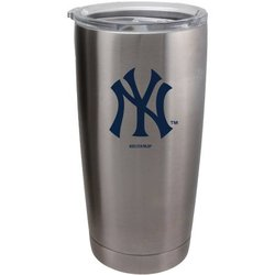 New York Yankees Travel Tumbler 20oz Ultra Silver