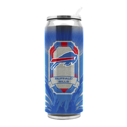 Buffalo Bills Stainless Steel Thermo Can - 16.9 ounces Special Order