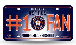 Houston Astros License Plate #1 Fan