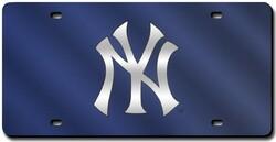 New York Yankees License Plate Laser Cut Blue