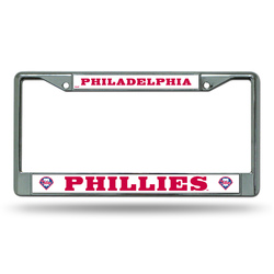 Philadelphia Phillies License Plate Frame Chrome