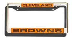 Cleveland Browns Laser Cut Chrome License Plate Frame