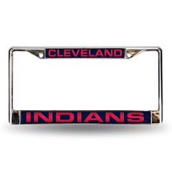 Cleveland Indians License Plate Frame Laser Cut Chrome