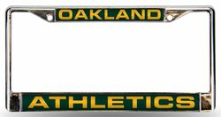 Oakland Athletics License Plate Frame Laser Cut Chrome