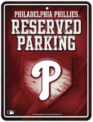 Philadelphia Phillies Sign Metal Parking